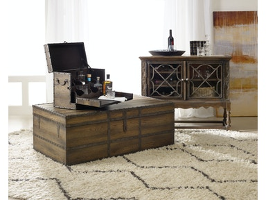 Hooker furniture living room pinta trail strong box for A p furniture trail
