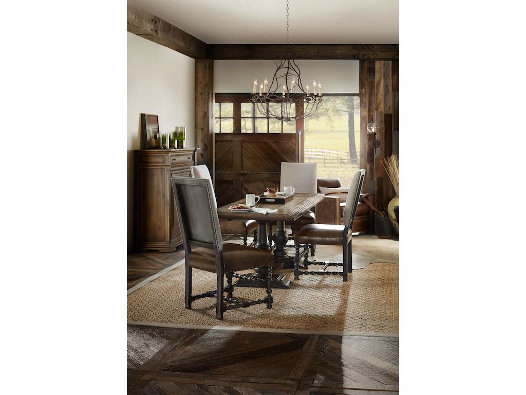 Hooker Furniture Dining Room Comfort Upholstered Side Chair 5960 75410 Blk Mclaughlins Home