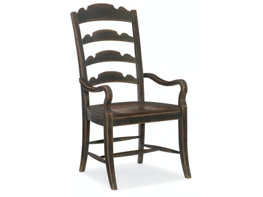 Twin Sisters Ladderback Arm Chair 5960-75300-BLK