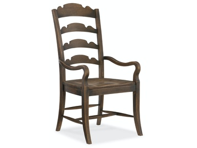 Twin Sisters Ladderback Arm Chair 5960-75300-BRN