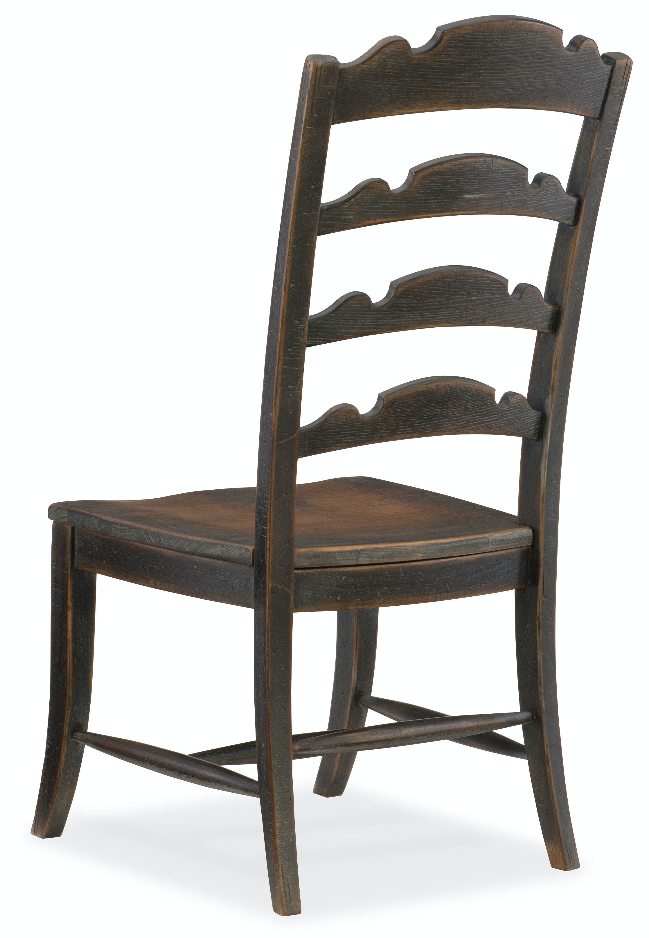 Hooker Furniture Dining Room Twin Sisters Ladderback Side Chair 5960 75310 Blk Stacy Furniture