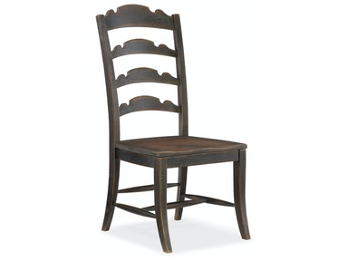 Twin Sisters Ladderback Side Chair 5960-75310-BLK