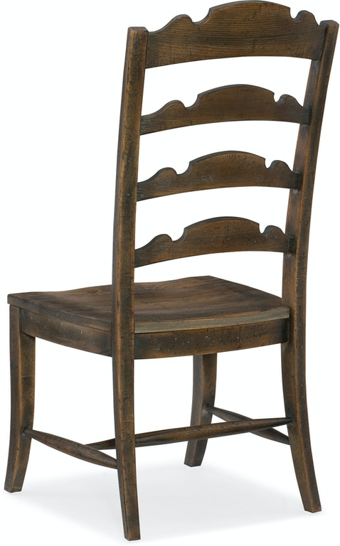 hooker furniture dining room twin sisters ladderback side chair 5960