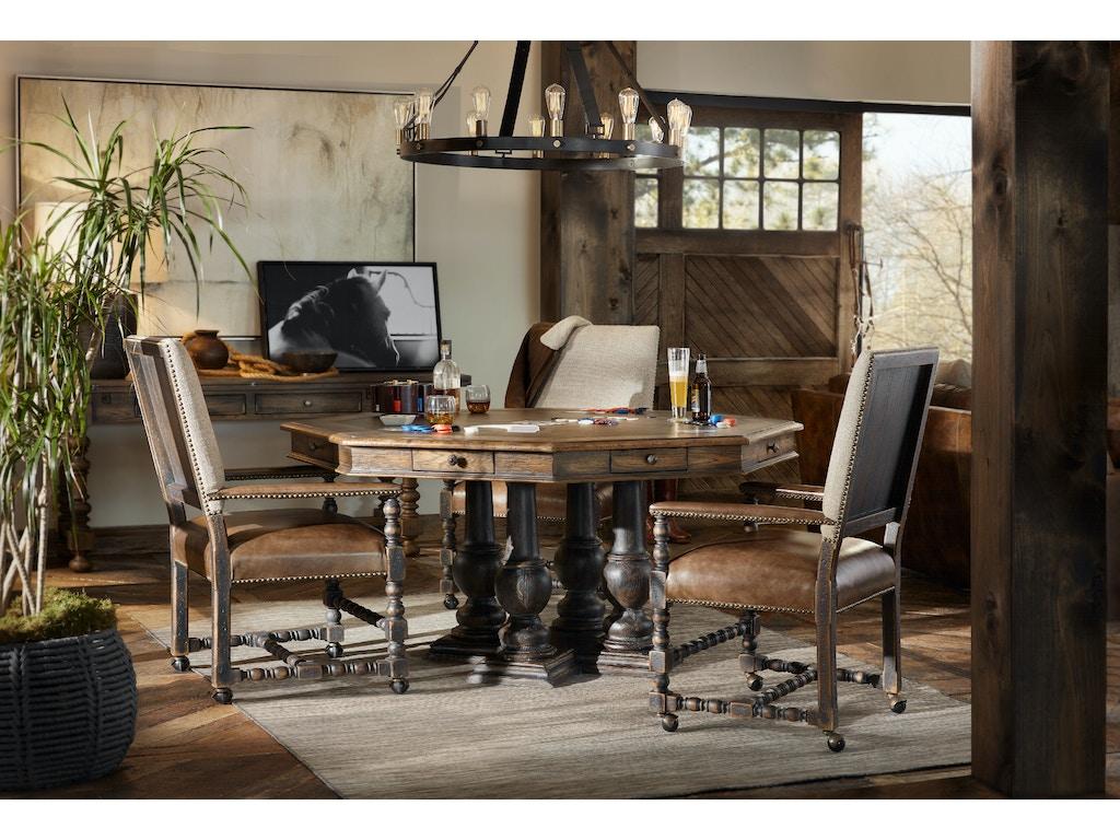 Hooker Furniture Castle Hills 60in Game Table 5960 85003 BRN