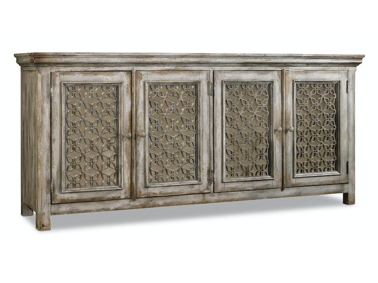 Hooker furniture living room melange raellen console 638 for D furniture galleries rockville md