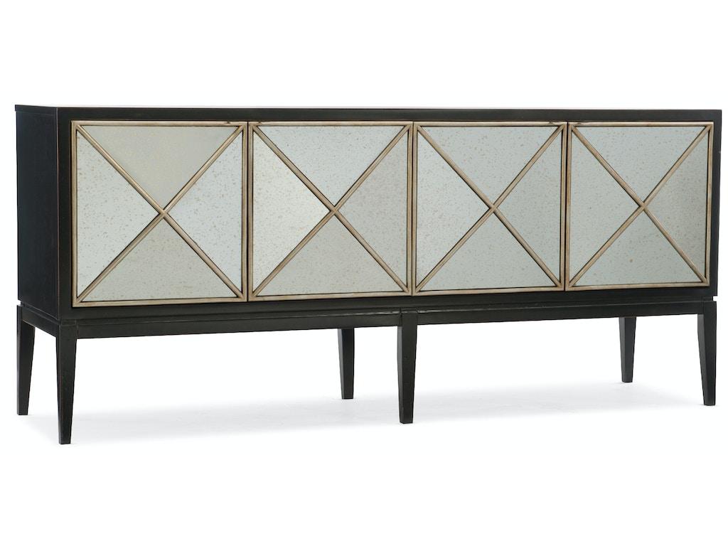 hooker furniture living room melange jova four door credenza 638 85306 chp maynard 39 s home. Black Bedroom Furniture Sets. Home Design Ideas