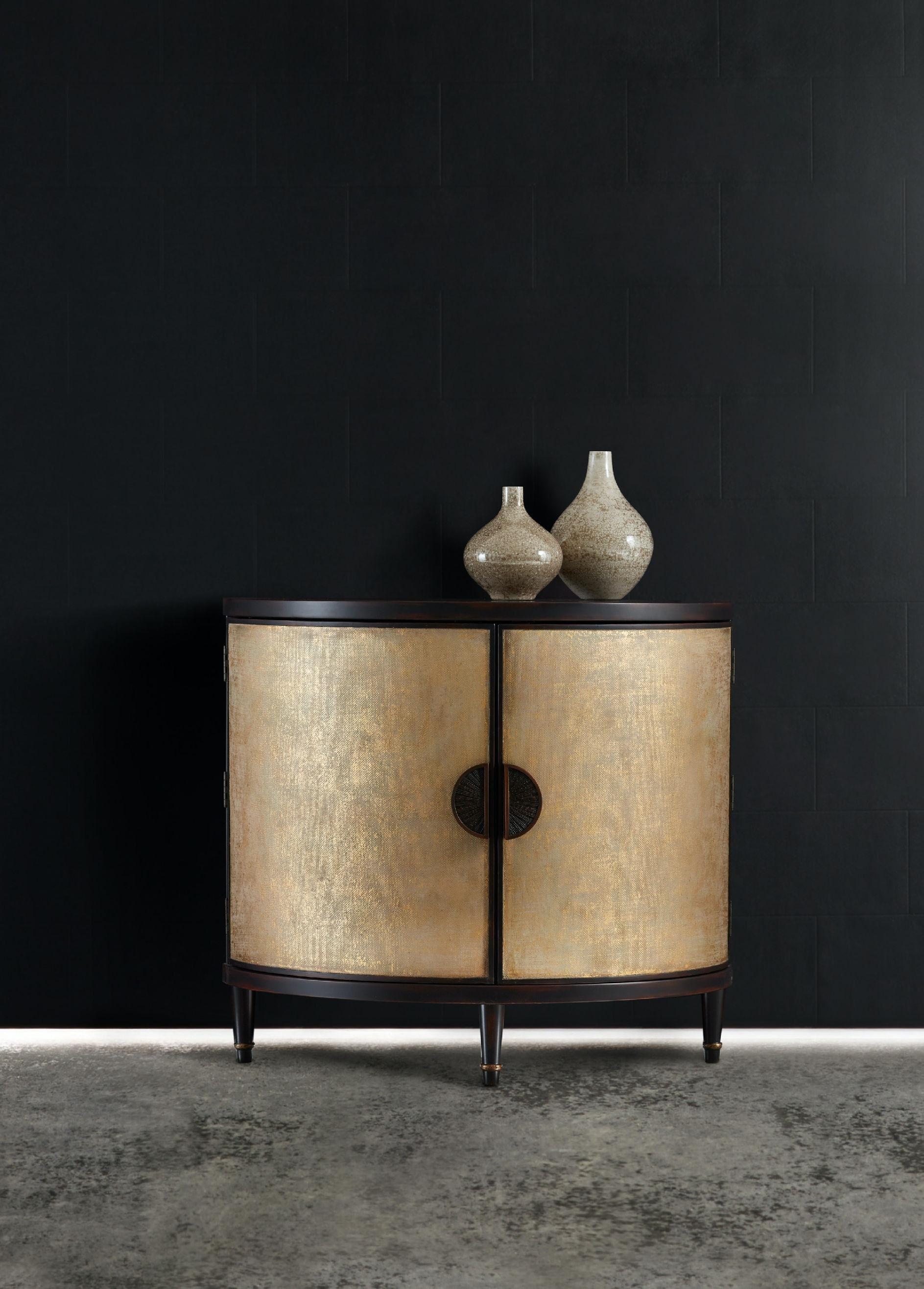 Hooker Furniture Melange Em Demilune Accent Chest 638 85314 GLD