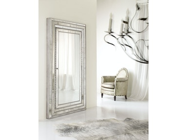 Melange Glamour Floor Mirror w/Jewelry Armoire Storage 638-50012