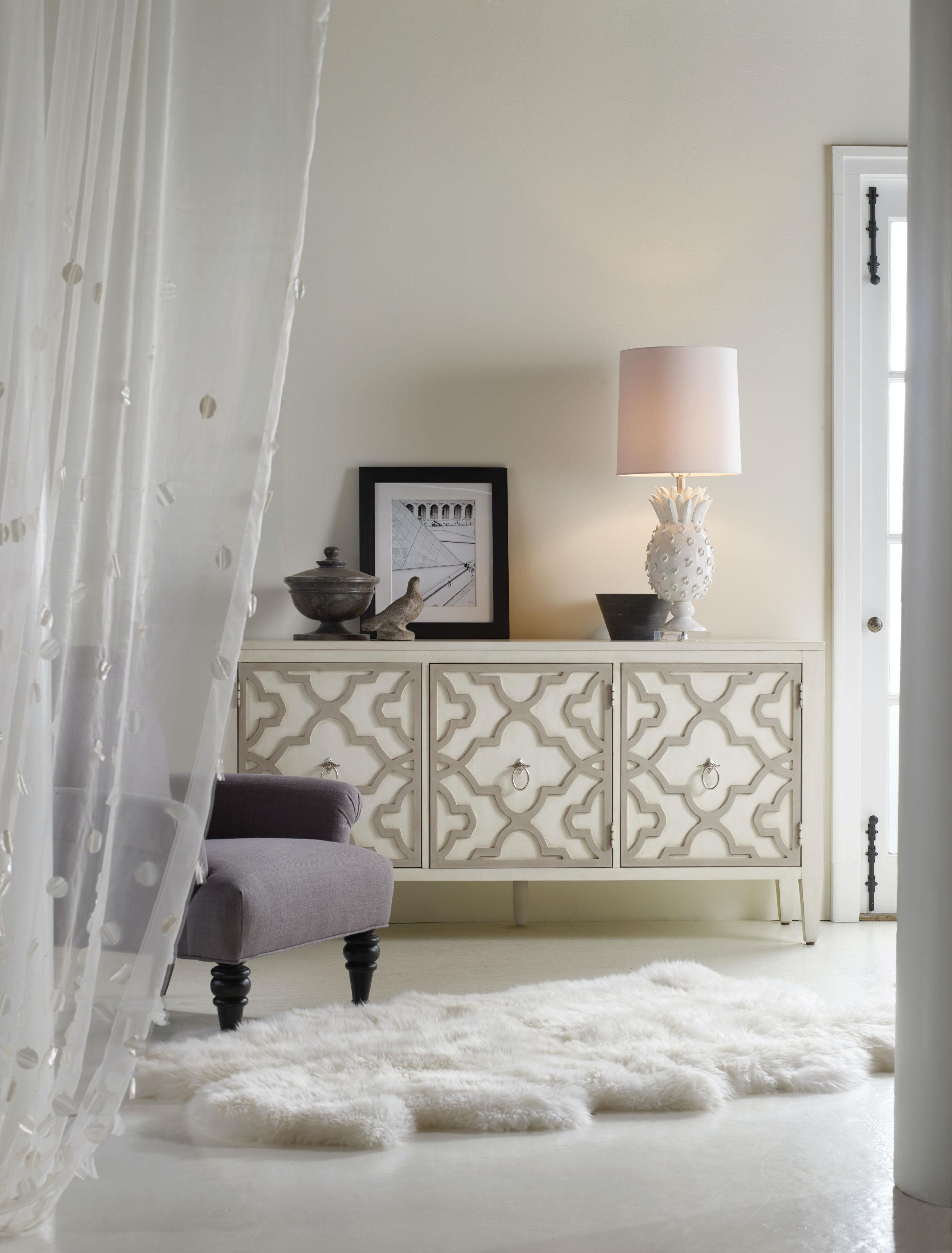 hooker furniture living room melange miranda credenza 638 85189. Black Bedroom Furniture Sets. Home Design Ideas