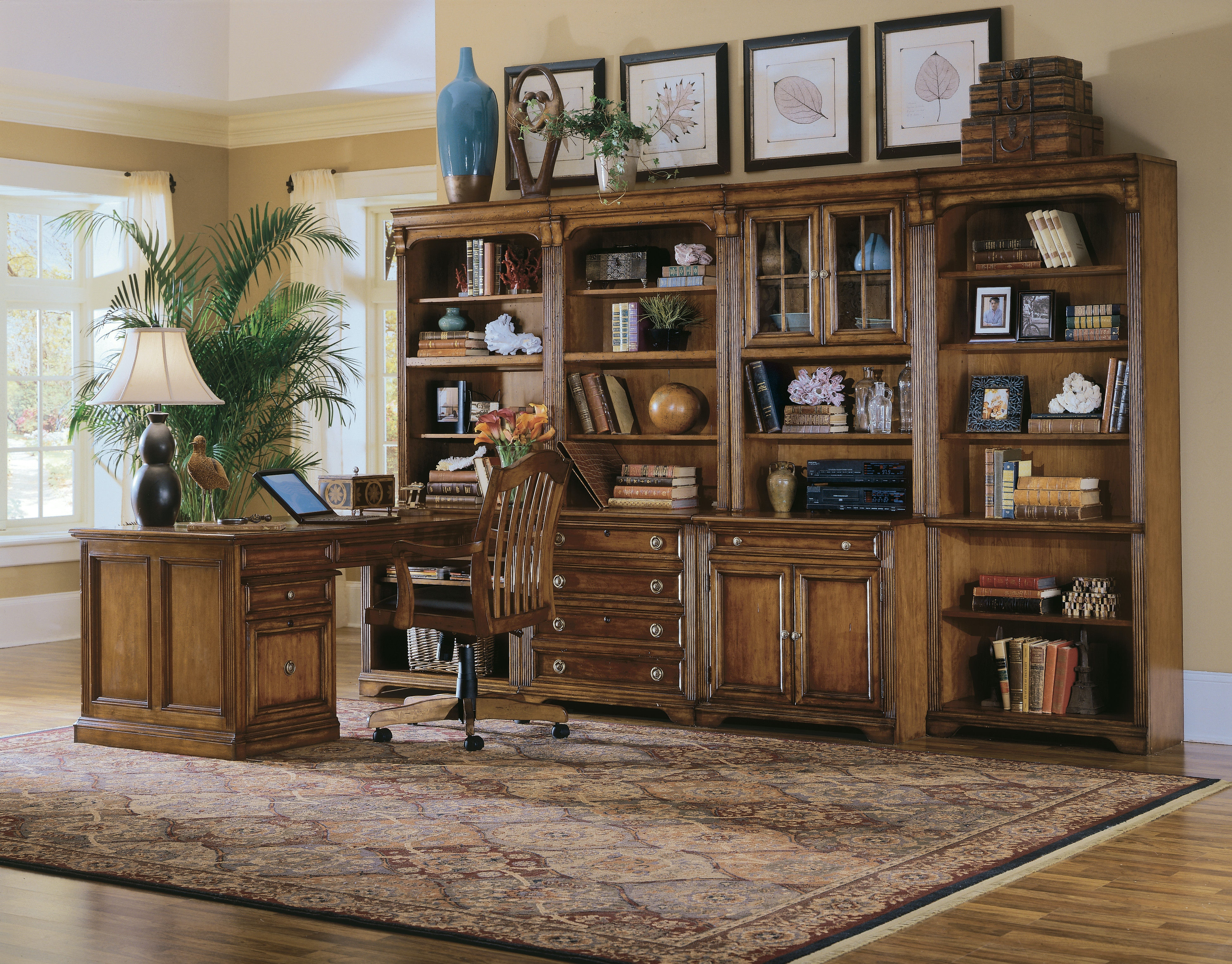 Hooker Furniture Home Office Brookhaven Tall Bookcase 281 10 422 Seville Home Leawood