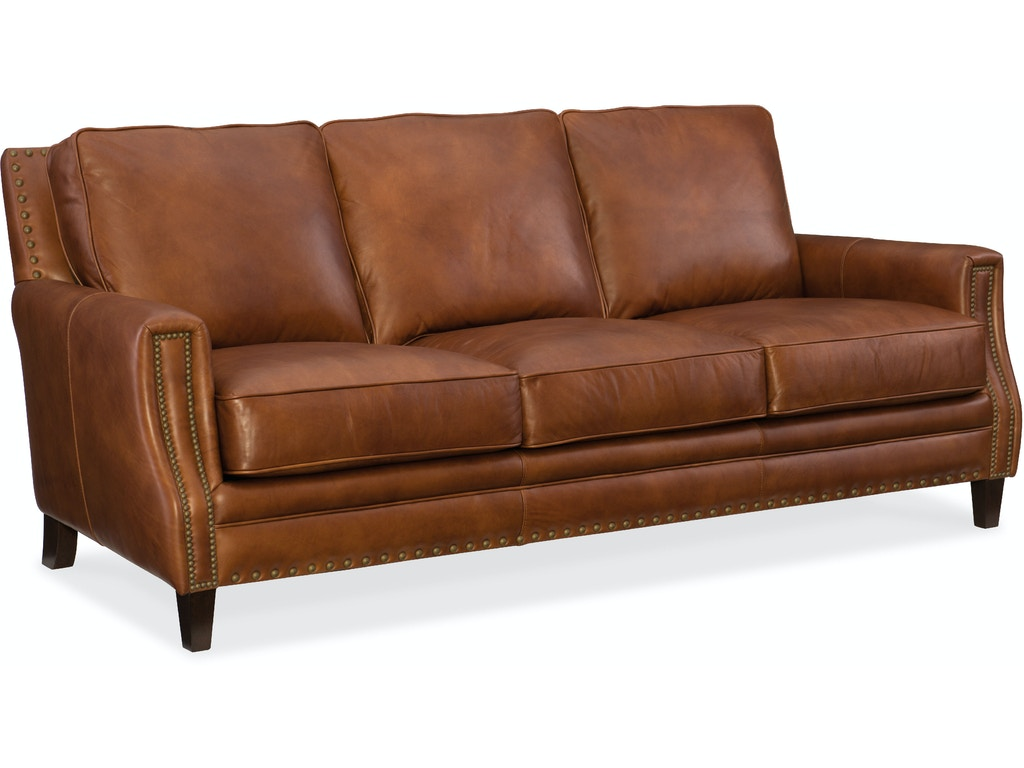 Hooker Furniture Living Room Exton Stationary Sofa Ss387 03 087 Mountain Comfort Furnishings