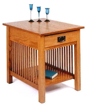 A A Laun Furniture End Table W/Drawer 2602 04