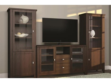 A A Laun Furniture Home Entertainment Entertainment Console w/2 Drawers