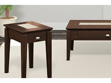 A A Laun Furniture Living Room Chairside Table w/Drawer