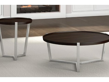 A A Laun Furniture Living Room Condo Round Cocktail Table