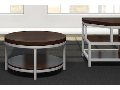 A A Laun Furniture Living Room Round Cocktail Table