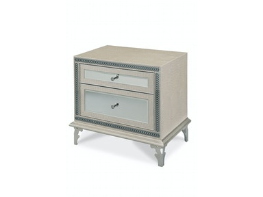 Aico Amini Innovations Bedroom Upholstered Night Stand