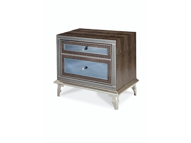 Aico Amini Innovations Bedroom Upholstered Nightstand