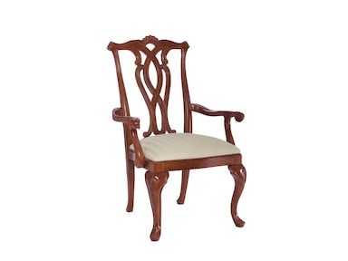 American Drew Dining Room Pierced Back Arm Chair-KD