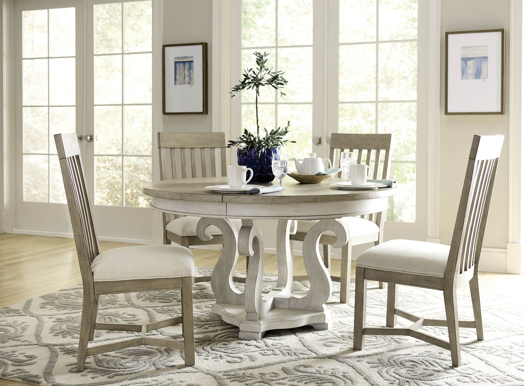 American Drew Sussex Round Dining Table Complete 750 701R