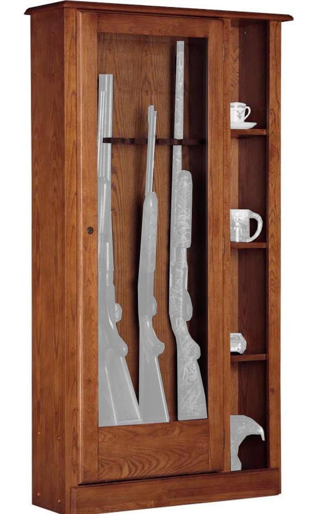 American Furniture Classics 10 Gun/Curio Cabinet Combination 1 725