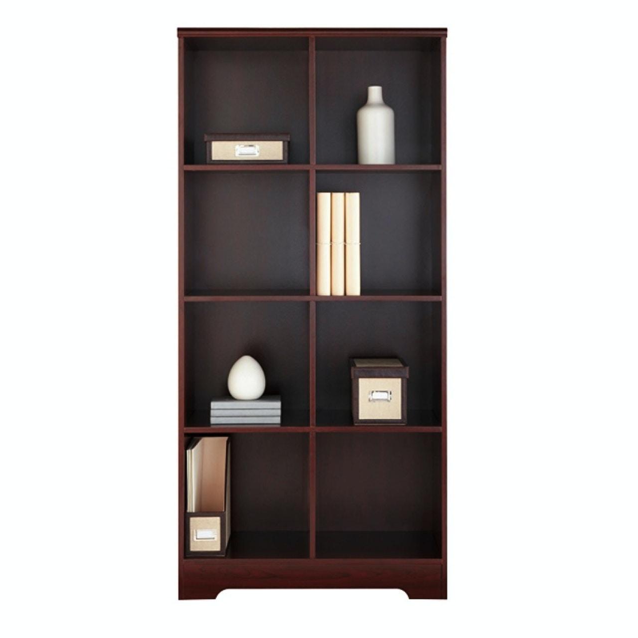 American Furniture Classics Large 8 Cube Storage Organizing Bookcase    Classic Cherry 117