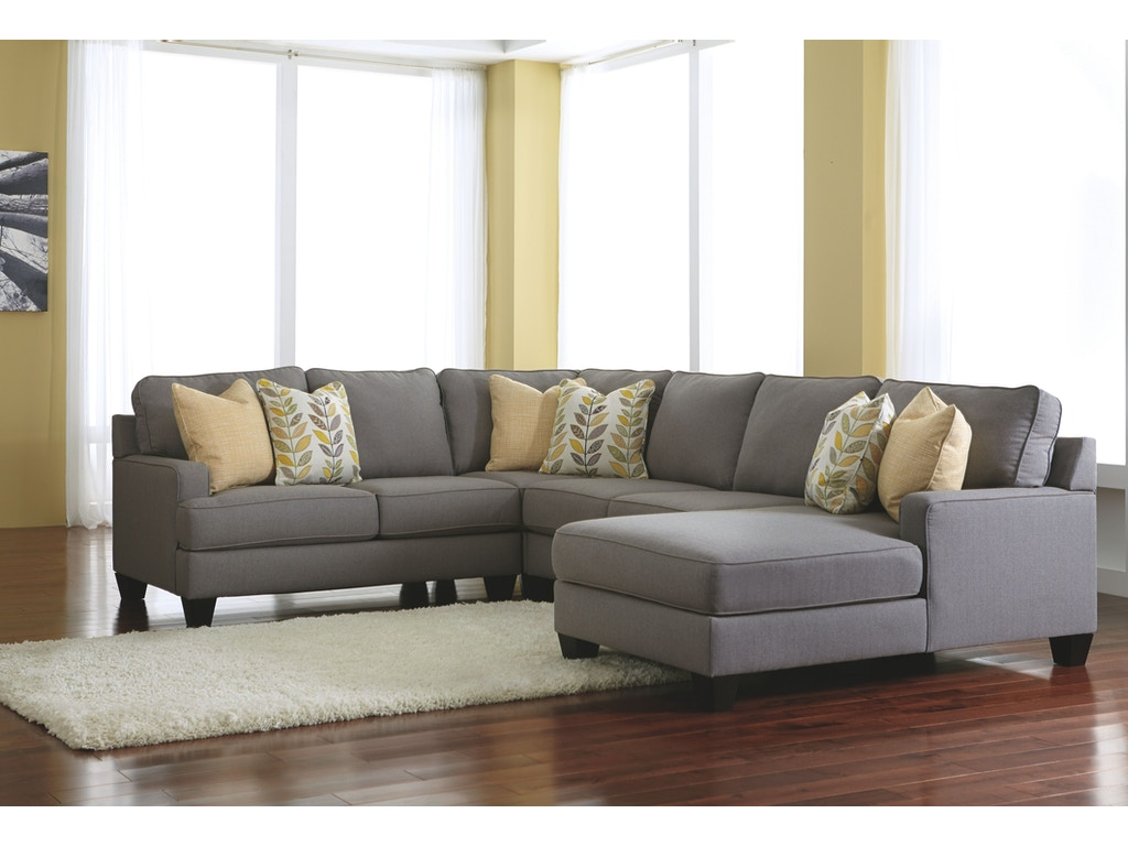 Signature design by ashley living room raf corner chaise 2430217 factory direct furniture for Factory direct living room furniture