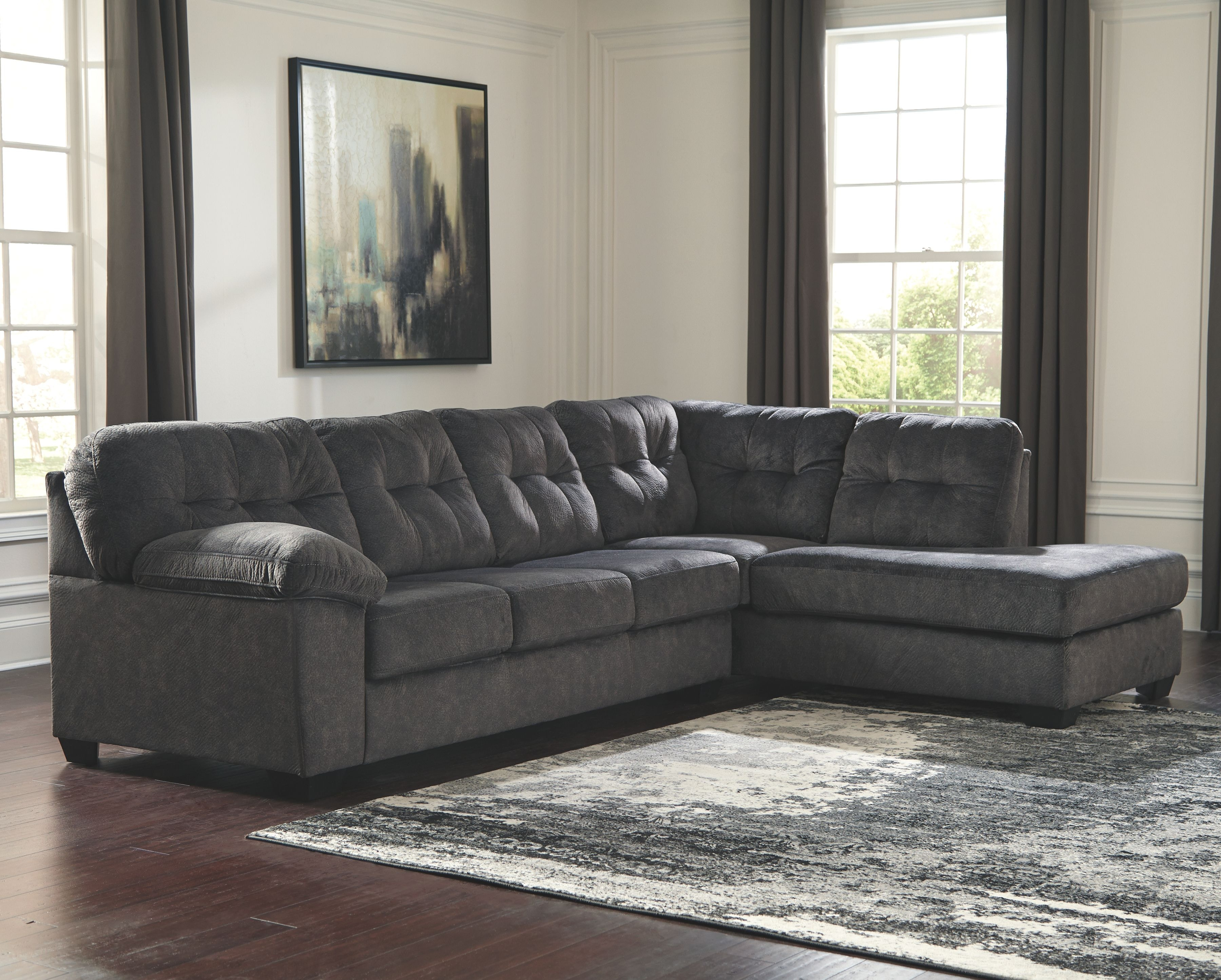 Perfect Signature Design By Ashley Living Room RAF Corner Chaise