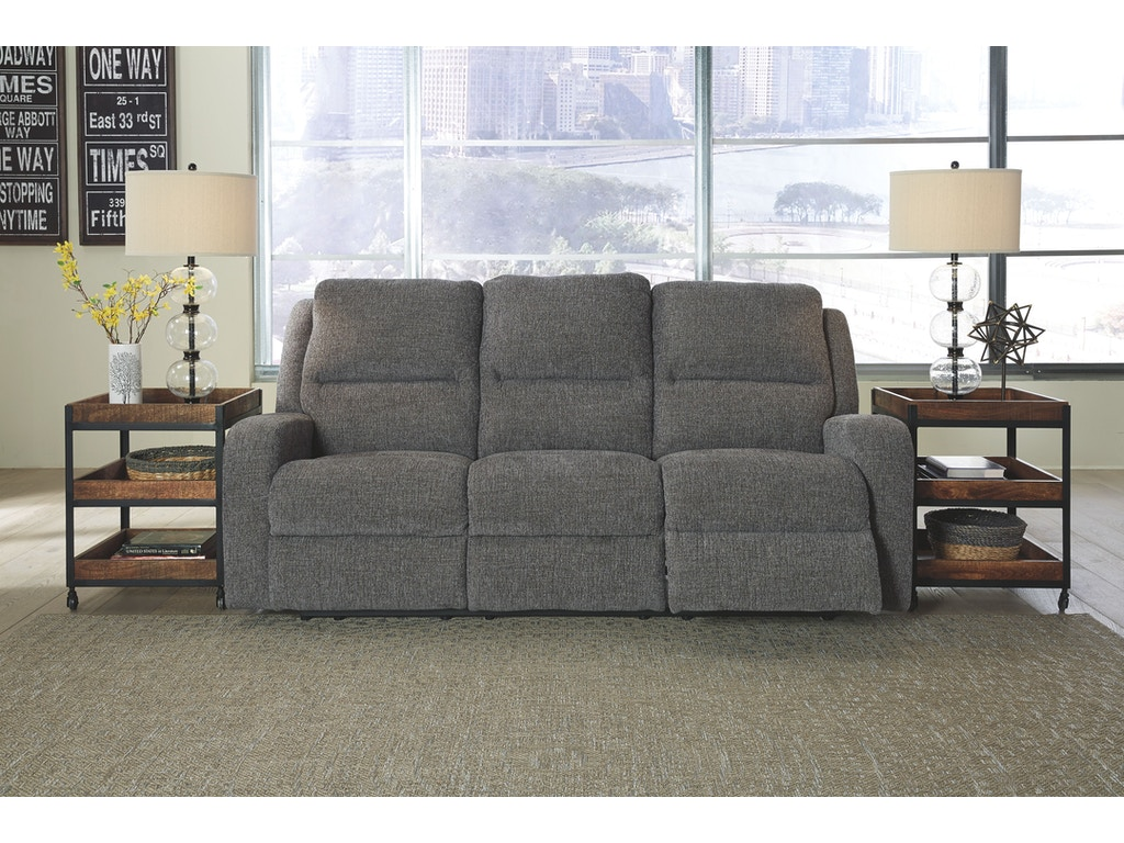 Signature Design By Ashley Living Room Pwr Rec Sofa With Adj Headrest 7810215 Factory Direct