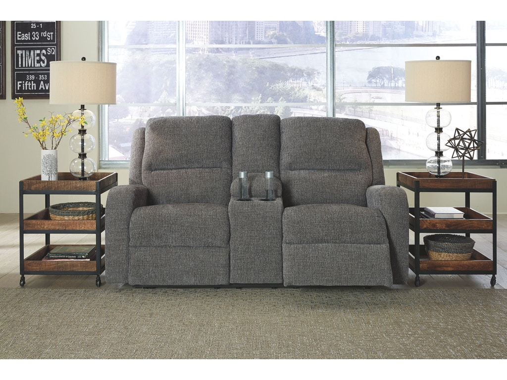 Signature Design By Ashley Living Room Pwr Rec Loveseat Con Adj Hdrst 7810218 Morris Furniture