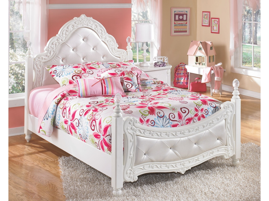 Signature design by ashley bedroom full poster rails b188 - Ashley furniture full bedroom sets ...