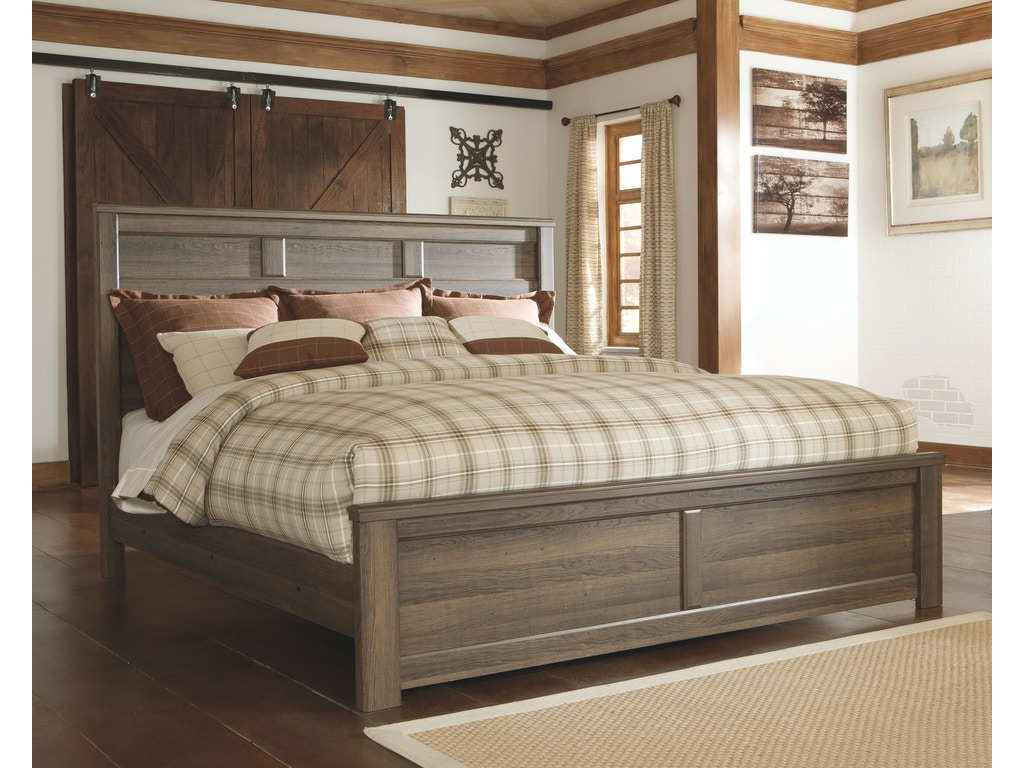 Signature Design By Ashley Bedroom Kg Ck Panel Footboard B251 56 Smith Village Home Furniture