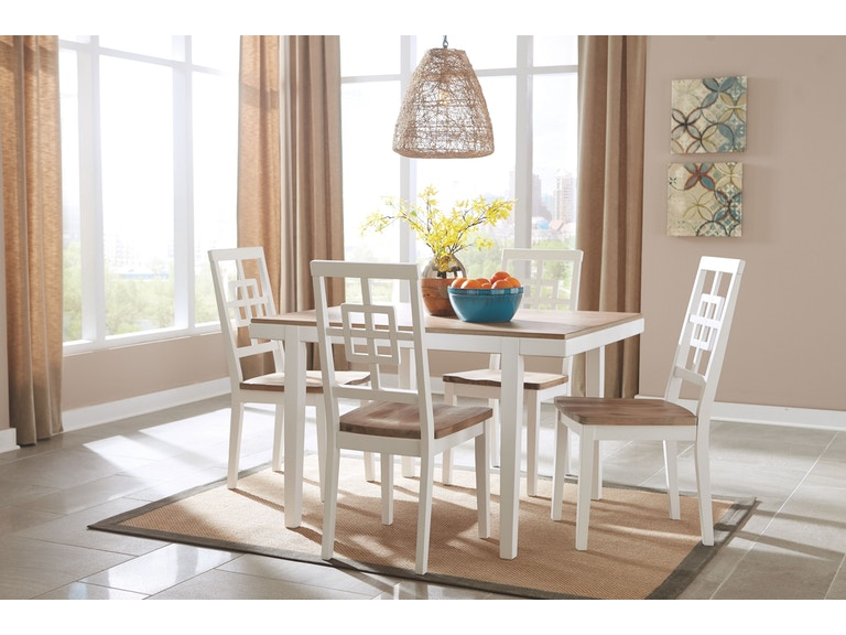 Signature Design By Ashley Dining Room RECT DRM Table Set 5 CN D298 225