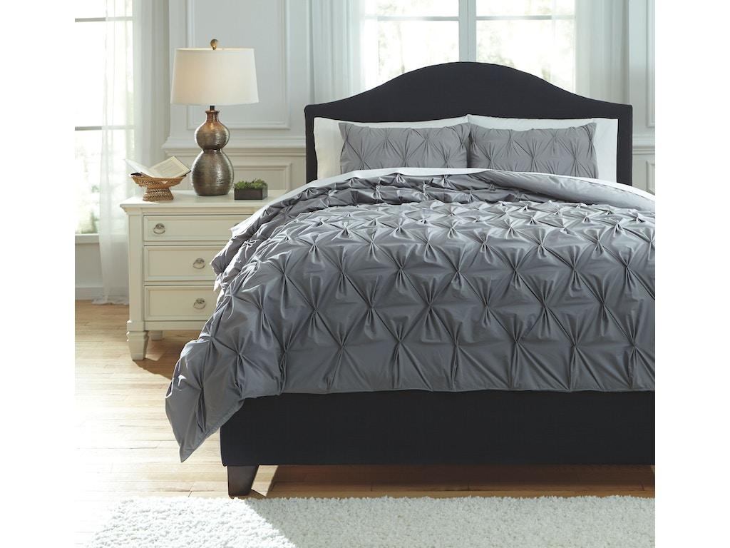 Signature design by ashley bedroom king comforter set for Bedroom furniture 28117