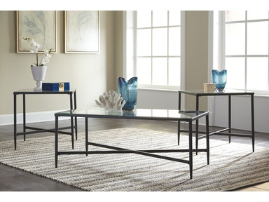 Signature Design by Ashley Living Room Augeron Table (Set of 3) T003 ...