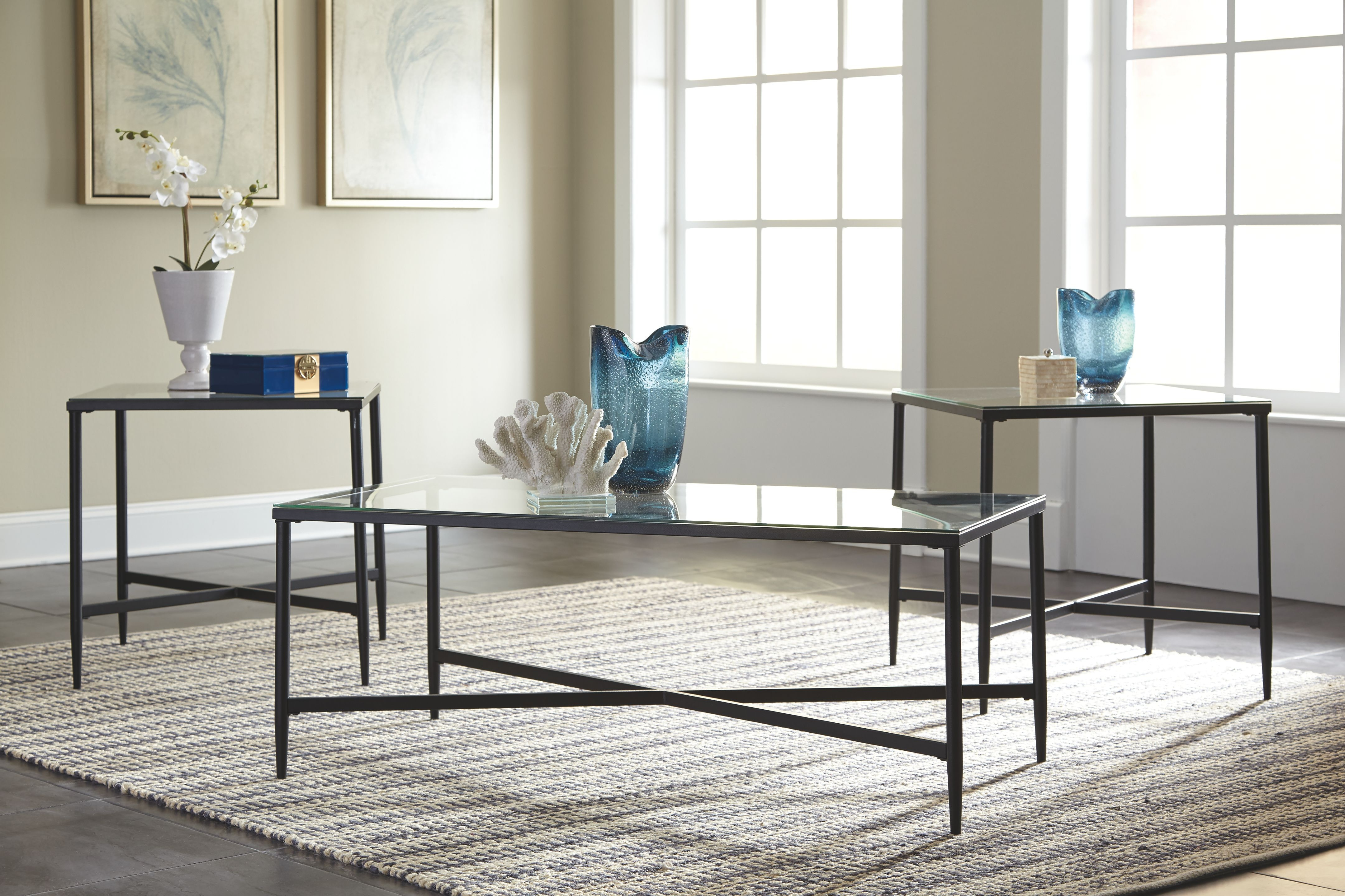 Signature Design By Ashley Living Room Occasional Table Set (3/CN) T003 13    Tip Top Furniture   Freehold, NY