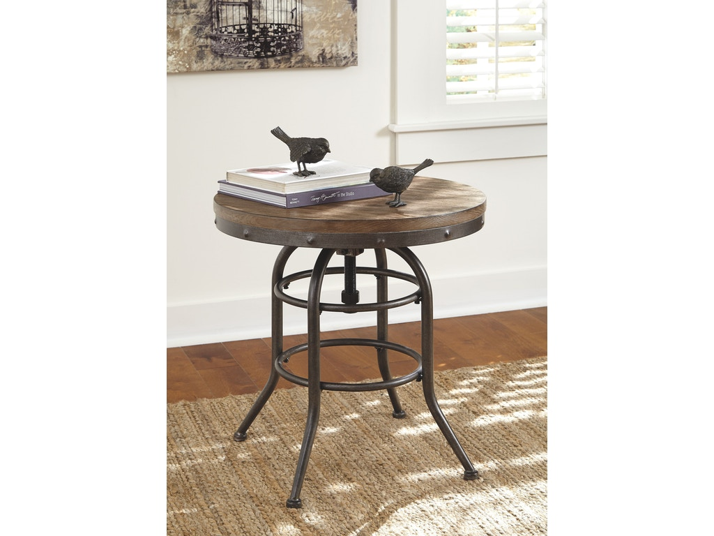 Signature Design By Ashley Living Room Round End Table T500 726 Tip Top Furniture Freehold Ny