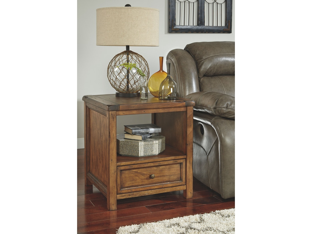 Signature Design By Ashley Living Room Square End Table T830 2 Fiore Furniture Company