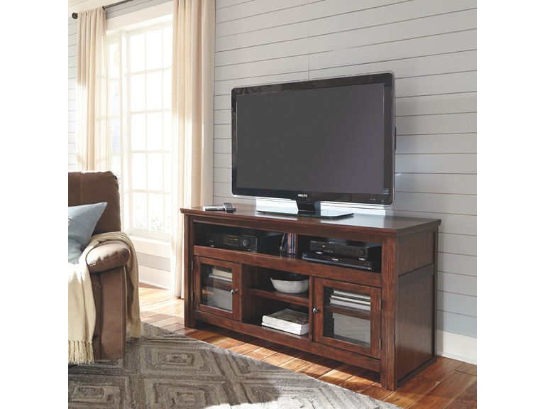 Signature Design By Ashley Harpan Large Tv Stand W797 38 Gustafson S Furniture And Mattress