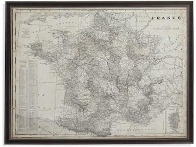 Bassett Mirror Company Accessories Us Map Blueprint - Us map blueprint