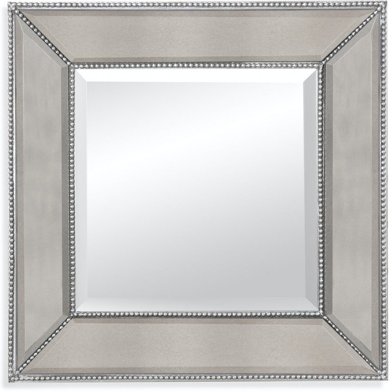 bassett mirror company home furnishings beaded wall mirror m3592b