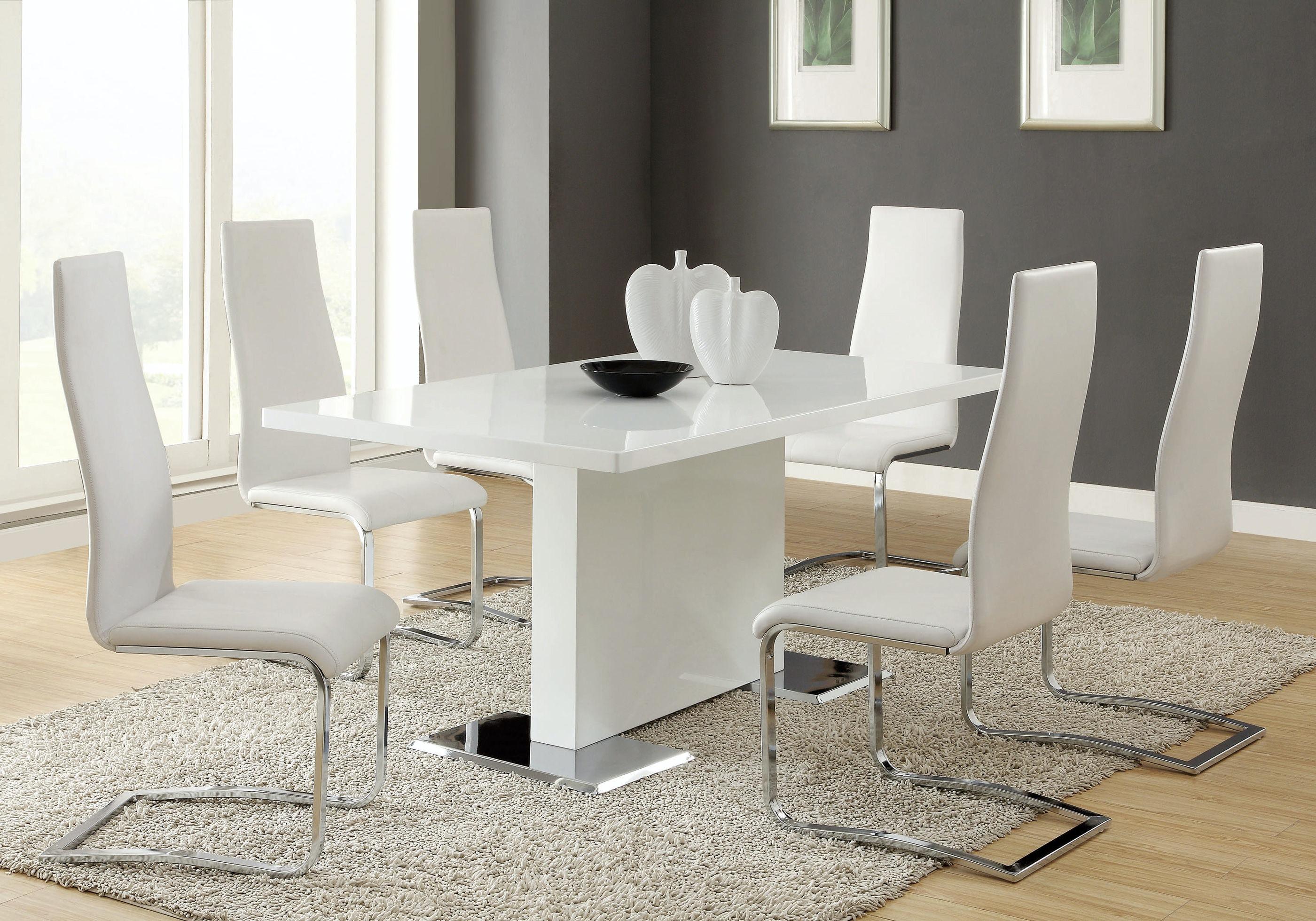 Coaster Dining Room Dining Chair 100515WHT   EMW Carpets U0026 Furniture    Denver, CO