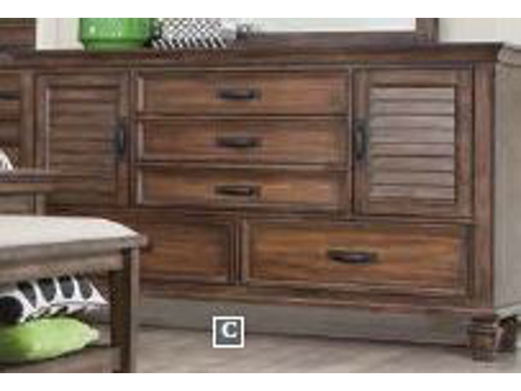 Coaster bedroom dresser 200973 royal furniture and for Key west style bedroom furniture