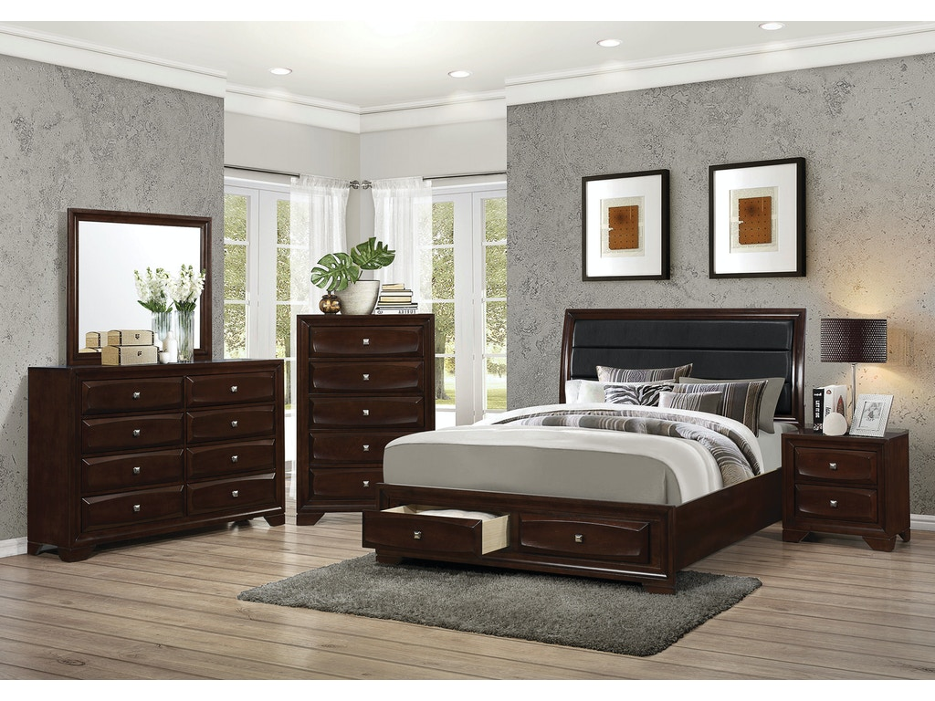Coaster bedroom queen bed 203481q hickory furniture mart for Bedroom furniture hickory nc