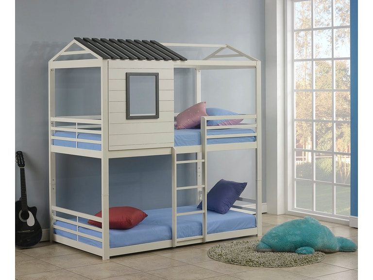 Coaster Youth Twin Over Twin Bunk Bed 461161 Stacy Furniture