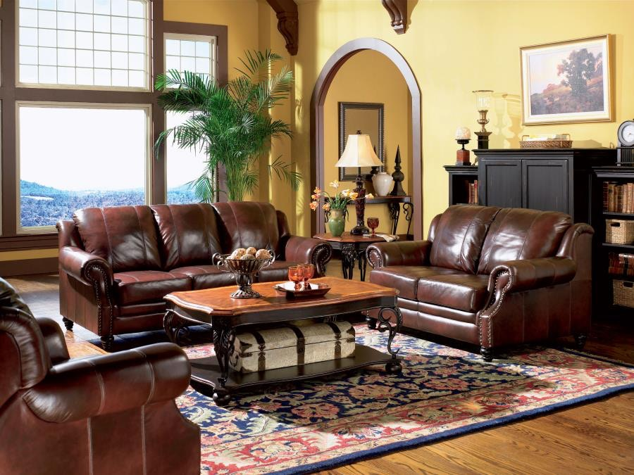 Coaster Living Room Set Includes: 3pc (Sofa Love Recliner) 500661 S3
