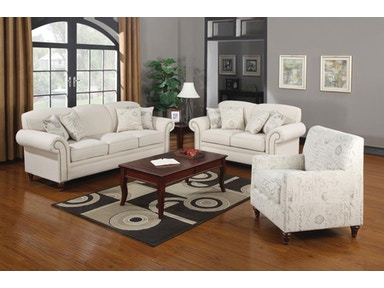 Coaster Living Room Set Includes:  3pc (Sofa Love chair) 502511-S3