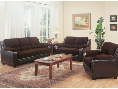 Coaster Living Room Set Includes:  2pc (Sofa Love) 502811-S2