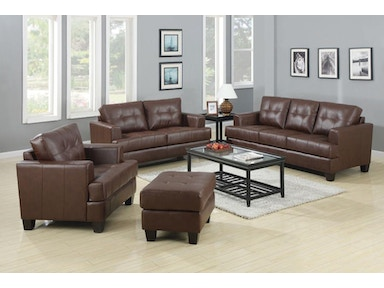 Coaster Living Room Set Includes:  2pc (Sofa Love) 504071-S2