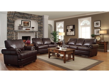 Coaster Living Room Set Includes:  3pc (Sofa Love chair) 504411-S3
